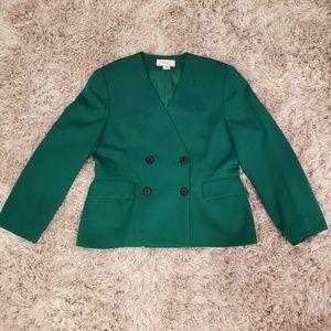 Green Christian Dior skirt suit